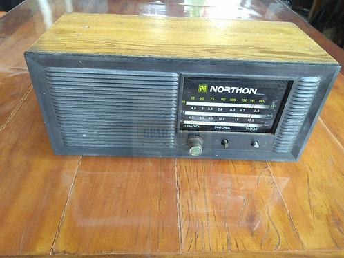 Rádio antigo vintage 0,33 x 0,15 x 0,16m para decoração retrô.