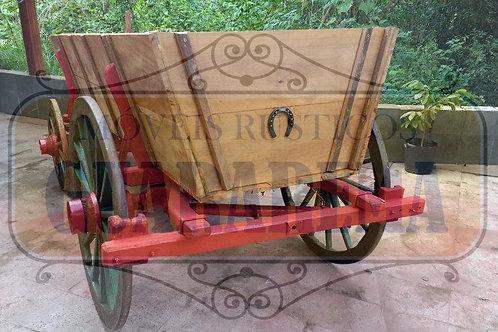 Carroção rústico em madeira 3,00 x 1,06m.
