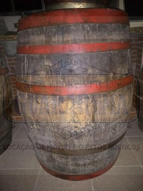 Barril de carvalho 250 litros (0,86m altura x 0,62m diâmetro).
