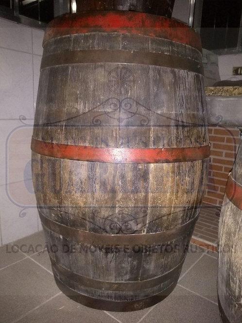 Barril de carvalho 300 litros (1,00m altura x 0,58m diâmetro).