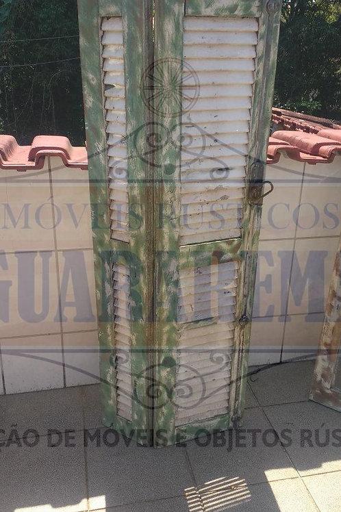 Porta retrato veneziana de demolição 0,52 x 1,32m para decoração retrô.