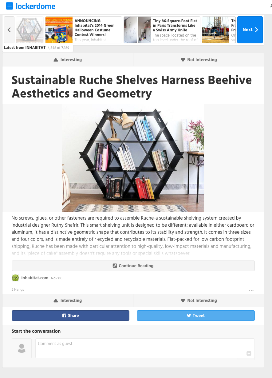 Ruche shelving locker dome