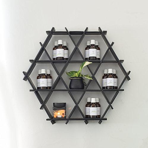 Essential oil storage - cardboard Ruche shelving - Matte black finish