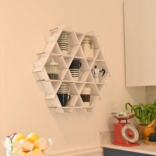Medium cardboard Ruche - kitchen shelf - White finish