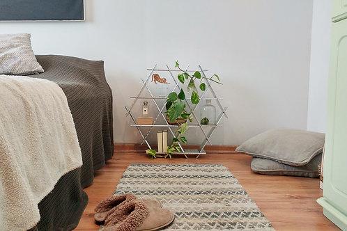 Medium cardboard Ruche - Bedside table shelves - Silver holografic f