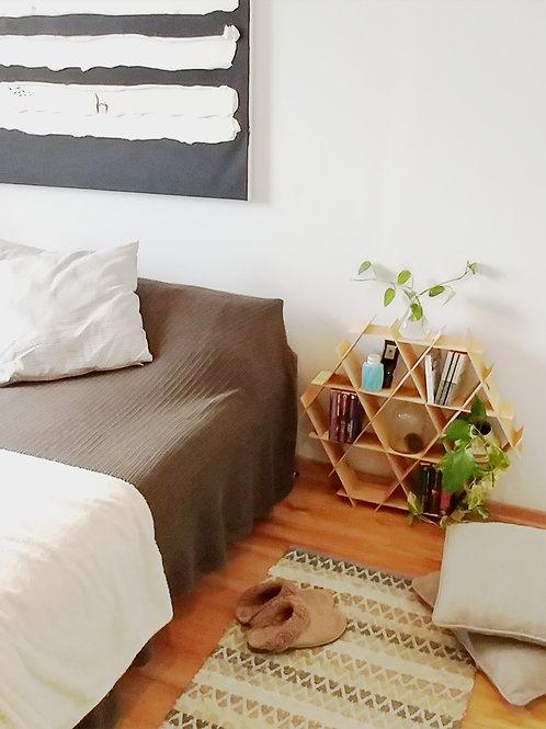 Medium wood Ruche - Bedside table - Birch plywood