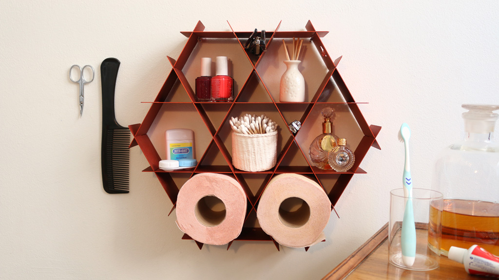 bathroom storage toiletry shelf