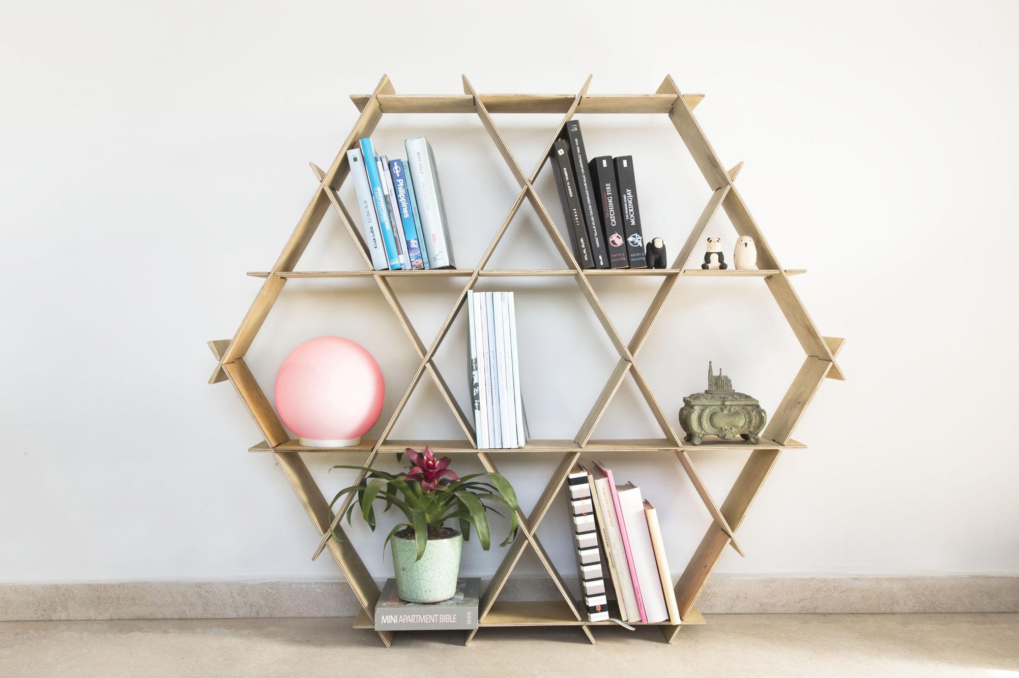 large wood book shelf