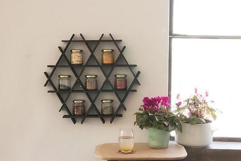 Spice rack - Small cardboard Ruche - Black matte finish