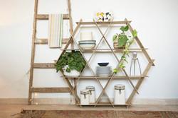 kitchen organization shelves wood