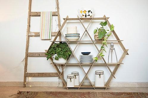 Large Wooden Ruche kitchen shelves - Birch plywood