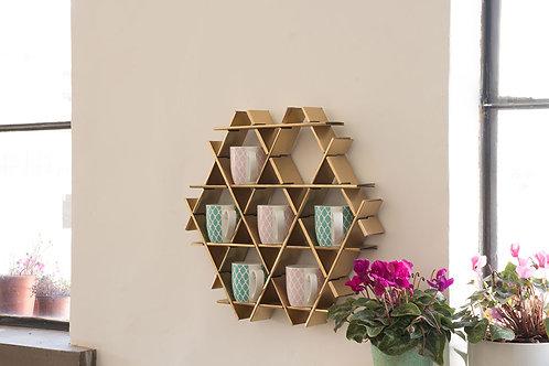 Mug rack - Small cardboard Ruche - Gold finish