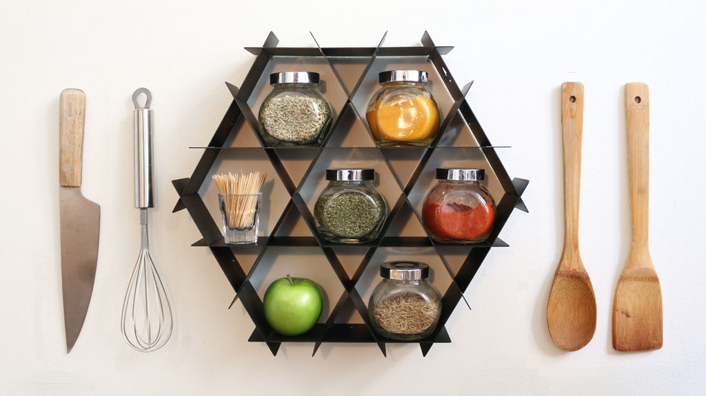 spice rack shelf