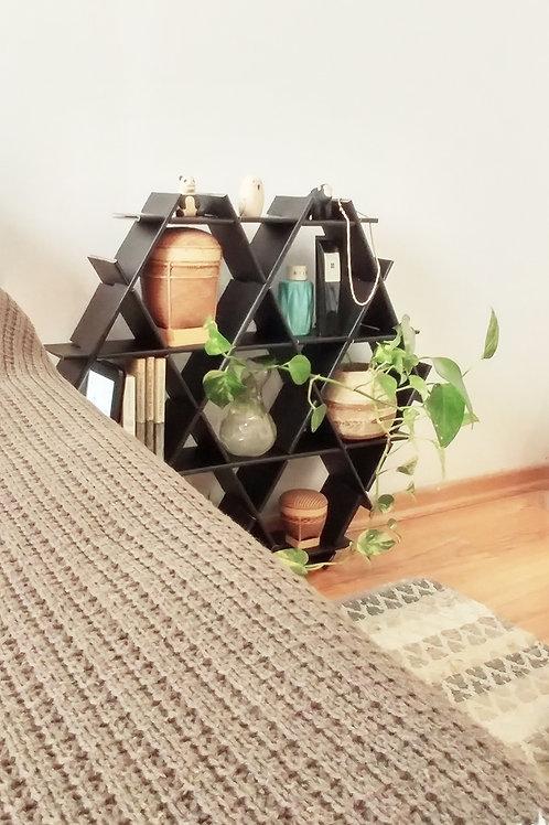 Medium cardboard Ruche - Bedside table - Matte black finish