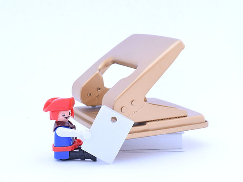 Gold finish office hole puncher