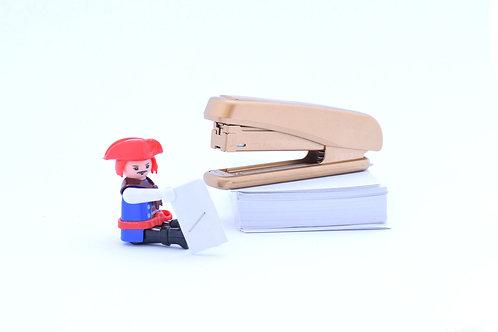 Gold finish office stapler