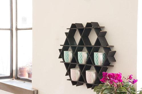 kitchen shelf - Small cardboard Ruche - Matte black finish