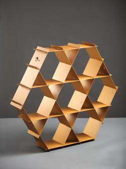 gold aluminum shelf