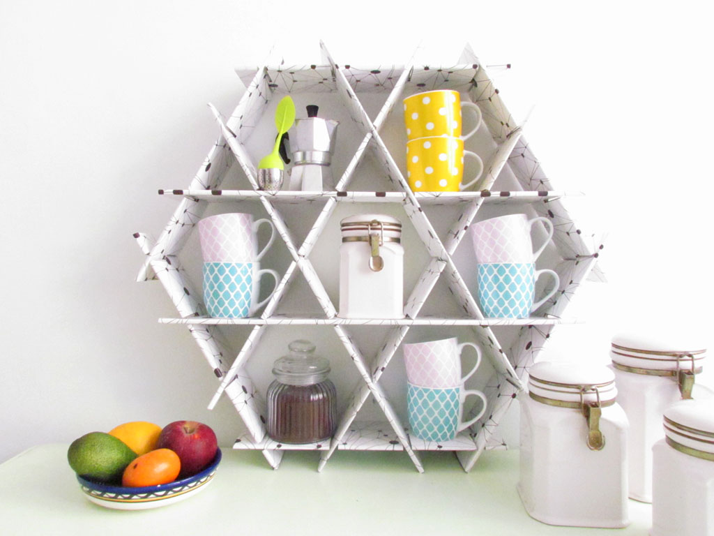 coffe rack shelves