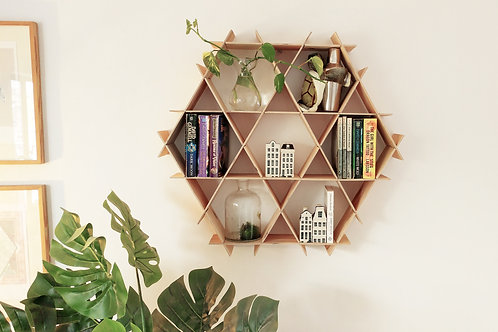 Medium wood Ruche - living room floating shelves - Birch plywood