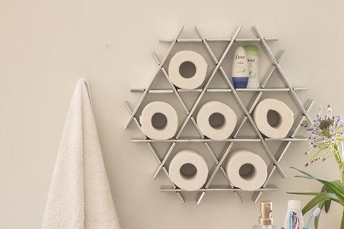 Bathroom shelf - Small cardboard Ruche - Chrome finish