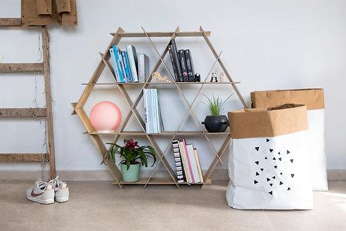 Large Wooden Ruche book shelf - Birch plywood