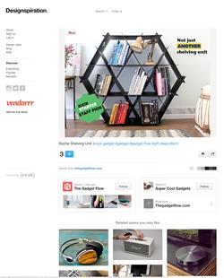 Ruche shelving design inspiration