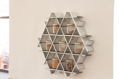 Spice rack - Small cardboard Ruche - Chrome finish