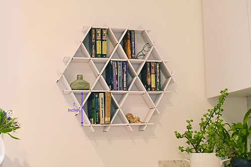 Medium cardboard Ruche - Book shelf - White finish