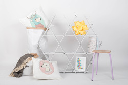 nursery strage shelves kids room