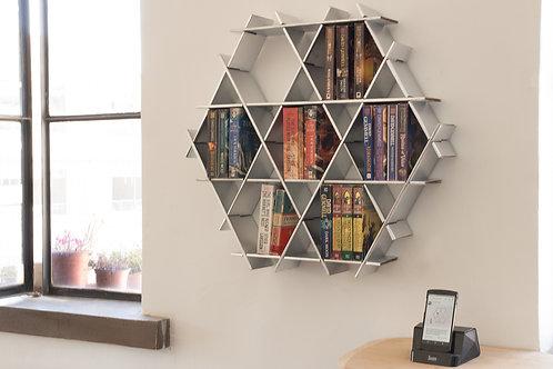 Medium cardboard Ruche - Book shelf - Chrome finish