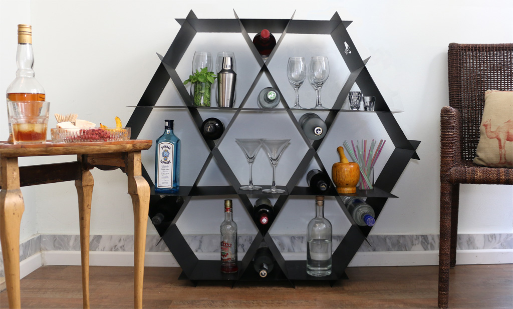 home bar wine rack