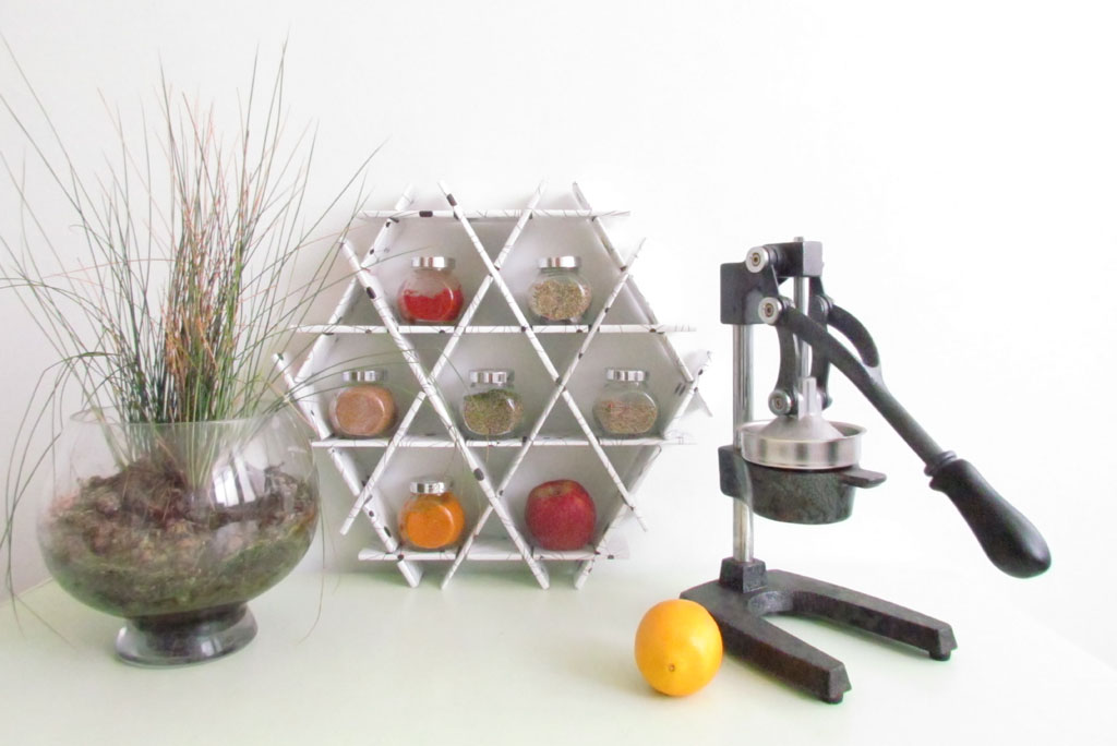 spice jar shelves