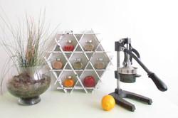 spice jar shelves