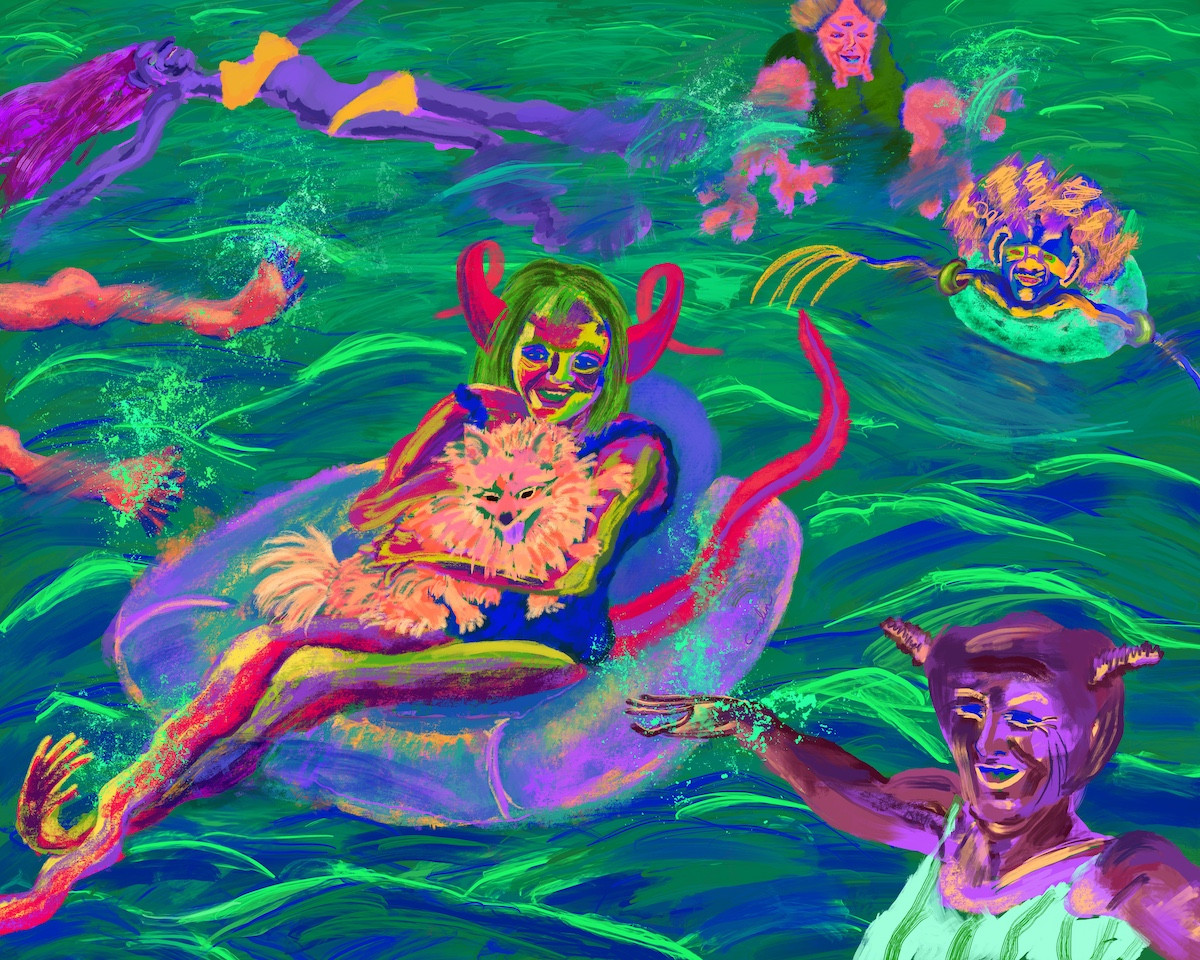 Aliens Having Fun In The Water 2
