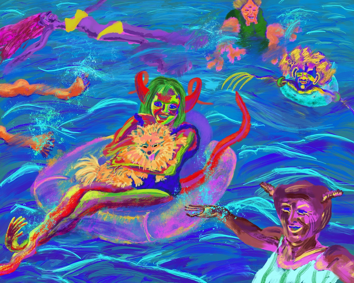 Aliens Having Fun In The Water