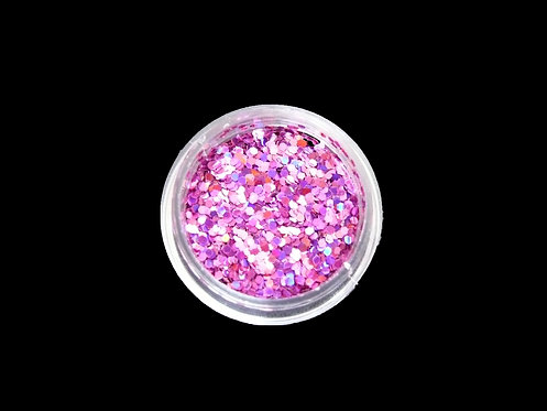 Paillettes multi-reflets rose prune (x12)