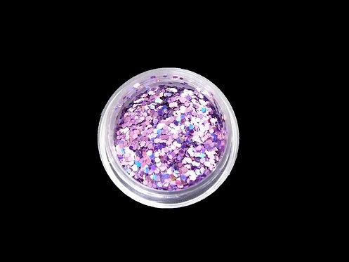Paillettes multi-reflets violet  (x12)