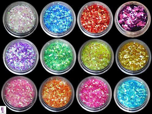 Paillettes set de 12 couleurs