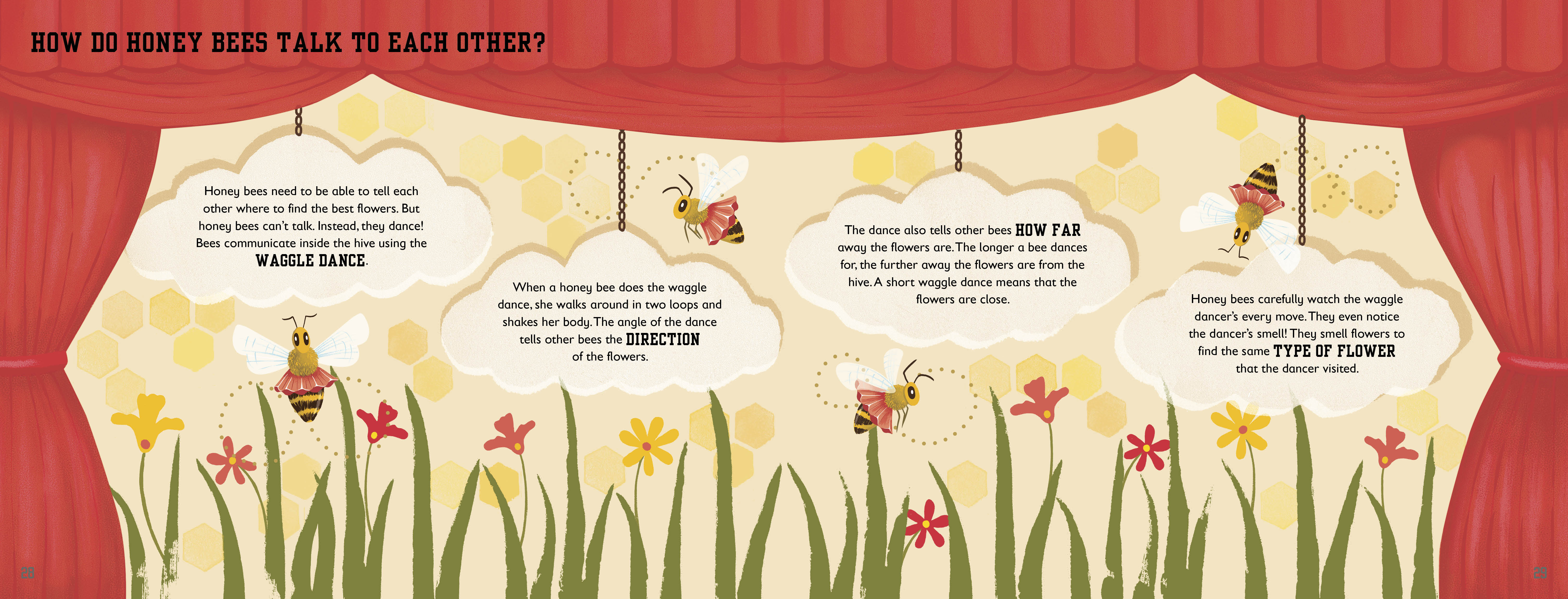 How do honey bees talk?