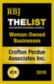 Rochester business journal, the list, top women owned business 2019