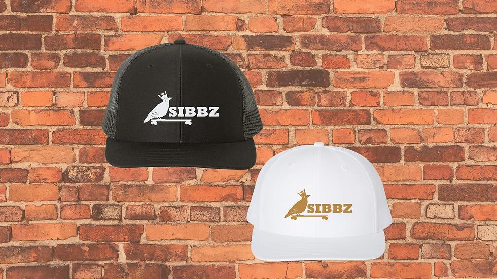 SIBBZ Trucker Hats Black/White White/Gold