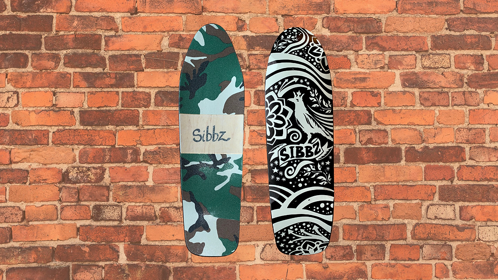 SIGNATURE CROW AND CROWN MINI KICKTAIL DECK WITH CAMO GRIP