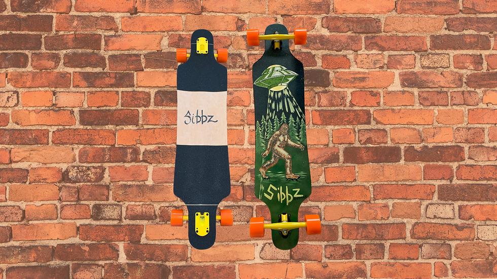 SIBBZ Slayer Drop Through Longboard Complete with Ghost Trucks