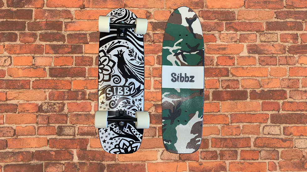 SIBBZ SIGNATURE CROW AND CROWN FATTY KICKTAIL WITH CAMO GRIP