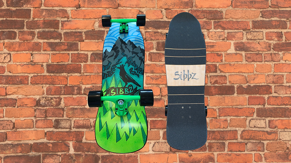SIBBZ Mountain Fatty Kicktail with Ghost Trucks