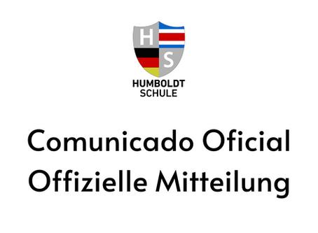 COMUNICADO OFICIAL - OFFIZIELLE MITTEILUNG