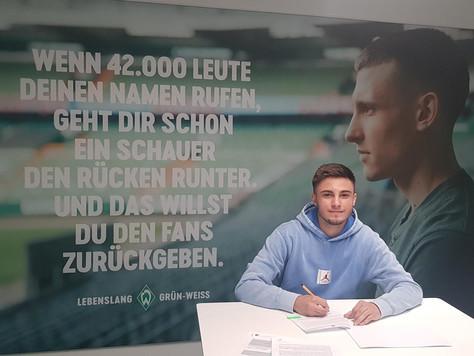 *** BFC-Talent Elmin Mekic unterschreibt erneuten Vertrag bei Werder Bremen ***