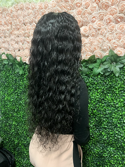 Deep curly Full lace Wig 130% density