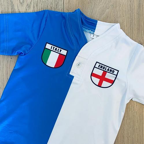50:50 Shield Jersey Italy + England